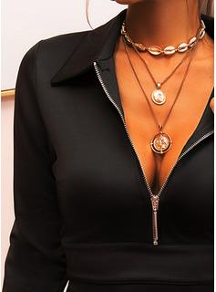 Solid Fodral Långa ärmar Mini Den lilla svarta Elegant Modeklänningar
