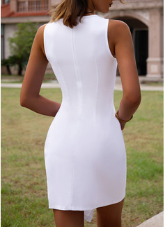 Solid Bodycon Ærmeløs Mini Casual Mode kjoler