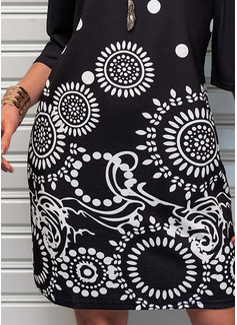 Print Fodral Kall axel Mini Fritids Modeklänningar