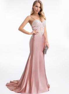 Trumpet/Mermaid Sweetheart Sweep Train Prom Dresses