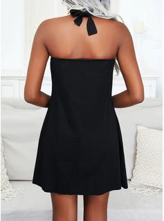 Impresión Corazón Vestidos sueltos Sin mangas Mini Casual Vacaciones Vestidos de moda