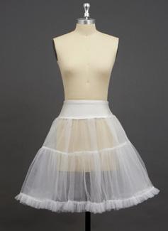 Women Tulle Netting/Spandex Knee-length 2 Tiers Petticoats