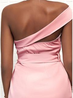 Sólido Cubierta Sin mangas Asimétrico Elegante Vestidos de moda