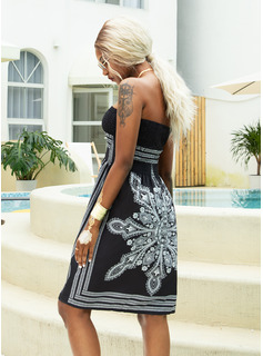 Print A-line Sleeveless Mini Boho Casual Vacation Skater Dresses