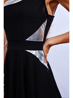 Impresión Vestido línea A Sin mangas Midi Casual Patinador Vestidos de moda