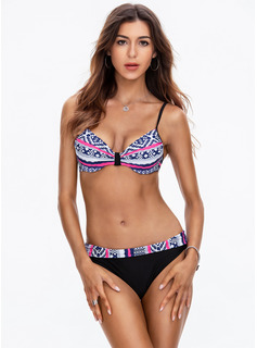 Bikinis Swimdresses poliéster Del spandex Cintura Baja De mujer Sí Ropa de baño