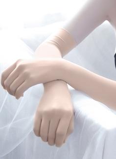 Algodón Guantes de novia con Bordado