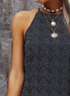 Print Shift Sleeveless Mini Casual Tank Dresses