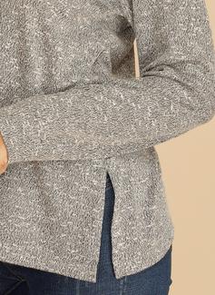 Manga larga poliéster Escote en V Tejido Blusas