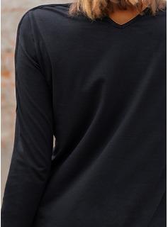 Figura Stampa Spalle esposte Maniche lunghe Casuale Camicie