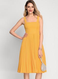 Cuello Cuadrado Otros colores Gasa Vestidos de moda