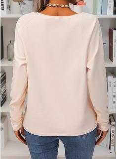 Mælkebøtte Figur Print Rund hals Lange ærmer Casual T-shirt