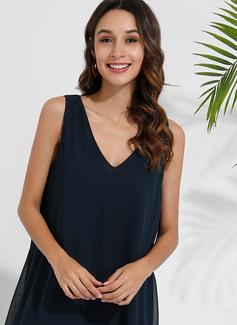 Suknie shift Dekolt w kształcie litery V Poliester Modne Suknie