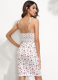 Bodycon Spaghetti Straps Polyester Dresses