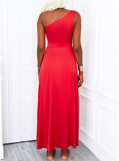 Solid A-line Sleeveless Maxi Party Skater Dresses