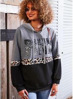 Leopard Figur Lange ærmer Hoodie