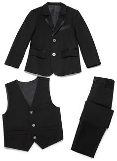Chlapci 3 kusy Elegantní Obleky pro nosiče prstenů /Page Boy Obleky S Bunda Západ Kalhoty