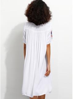 Bawełna Z Wydrukować Kolano Długość Sukienka