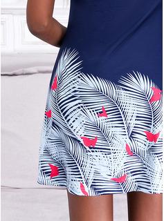 Print A-line Sleeveless Mini Casual Skater Dresses