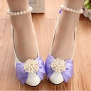 Women's Leatherette Stiletto Heel Closed Toe Pumps With Imitation Pearl Flower (047104070)