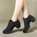 Femmes Tissu Talons Latin Modern Style Jazz Chaussures de danse
