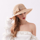 Señoras' Estilo clásico/Elegante Encaje con Bowknot Sombreros Playa / Sol/Derby Kentucky Sombreros/Sombreros Tea Party