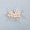 Hermoso Crystal/Rhinestone/La perla de faux Peines y pasador con Perla Veneciano (Se venden en una sola pieza)