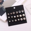 Elegante Aleación/Diamantes de imitación/La perla de faux Señoras' Pendientes