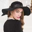 Ladies' Glamourous/シンプル/素晴らしいです/ニース ウール フロッピー帽子