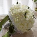 Pretty Round Foam Bridal Bouquets (Sold in a single piece) - Bridal Bouquets
