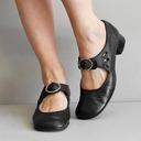 女性用 PU チャンキーヒール パンプス とともに バックル 靴