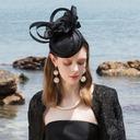 Ladies' Glamourous/エレガント キャンブリック かぎ針編みスカーフ/ケンタッキーダービー帽子/ティーパーティーハット