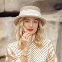 Señoras' Exquisito/Pretty poliéster Bombín / cloché Sombrero/Derby Kentucky Sombreros