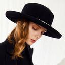 Ladies' クラシック/エレガント ウール とともに フェイクパール フロッピー帽子