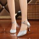 Kvinnor Glittrande Glitter Klackar Sandaler Bal med Ihåliga ut Dansskor