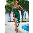 Floral Impresión Vestido línea A Sin mangas Maxi Casual Vacaciones Tipo Vestidos de moda (294253474)