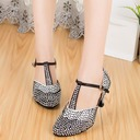 Women's Fabric Heels Ballroom With Ankle Strap Dance Shoes