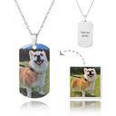 Personalizado Plata Etiqueta Impresión En Color Collar De La Foto - Regalos Del Día De La Madre