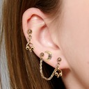 Jahrgang Legierung Frauen Art-Ohrringe (3-er Set)
