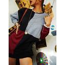 Blok Koloru Suknie shift Długie rękawy Mini Nieformalny Bluza Modne Suknie (294256633)