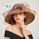 Dames Glamour/Style Classique Papyrus avec Bowknot Chapeaux de plage / soleil/Kentucky Derby Des Chapeaux/Chapeaux Tea Party