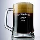 花婿の付添人のギフト - 個別の クラシック ガラス ビールのジョッキ