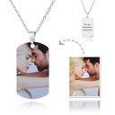 Personalizado Grabado / Grabado Etiqueta Collar Para Hombre Impresión En Color Collar De La Foto - Regalos Del Día De La Madre