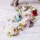 Simple And Elegant Free-Form Cloth Wrist Corsage - Boutonniere