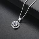 Элегантные медь/Циркон женские ожерелья