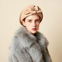 Ladies' Glamourous/魅力的な/ロマンチック ウール ベレー帽子