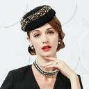 Dames Style Classique Coton Chapeaux de type fascinator/Chapeaux Tea Party