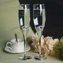 Personalized Toasting Flutes Zinc Alloy/Glass Toasting Flutes (Set of 2)