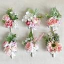 Fascinante Forma libre Tela Conjuntos de flores - Ramillete de muñeca/Boutonniere
