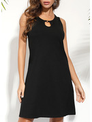 Solid Shift Sleeveless Mini Little Black Casual Vacation Tank Dresses